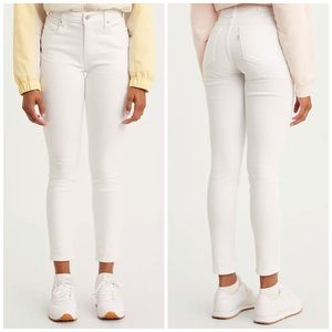 NEW Levi's 721 High Rise Skinny White Denim Jeans